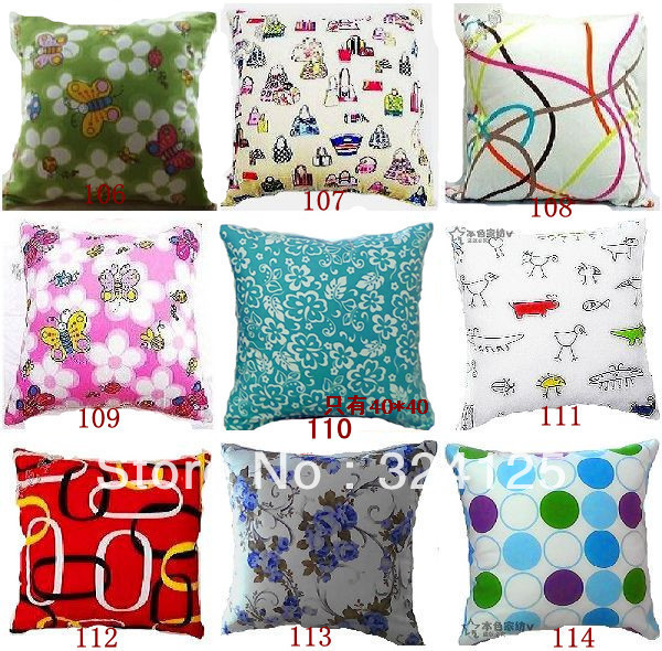 10pcs 50*50cm Fashion cotton thickening Jacquard 100% Printed Cotton Canvas Cushion Cover 100 colors in Free Shipping