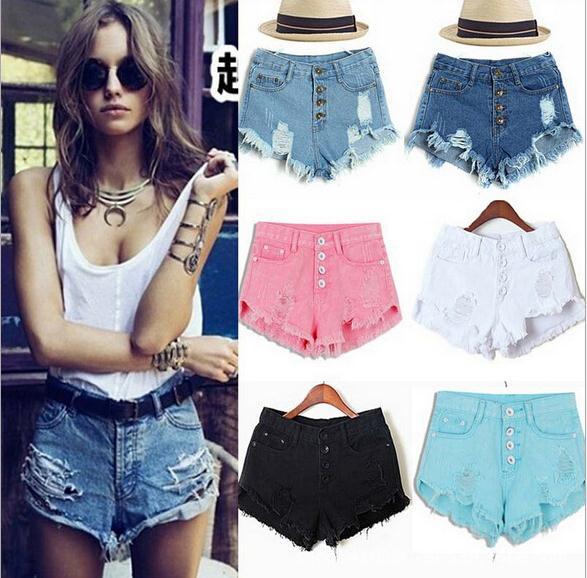Amazing Summer Sexy Women Lady girl short Fashion Slim Fit Bore Hole Denim Shorts C0144(China (Mainland))