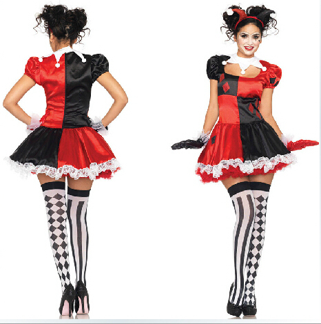 buy free shipping harley quinn costume. Black Bedroom Furniture Sets. Home Design Ideas
