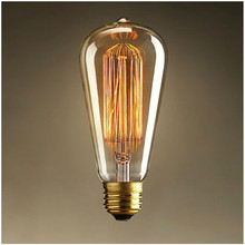 ST64 Antique Retro Vintage E27 40W 60W 220V Edison Light Bulb Incandescent Light Squirrel-cage Led Filament Bulb(China (Mainland))