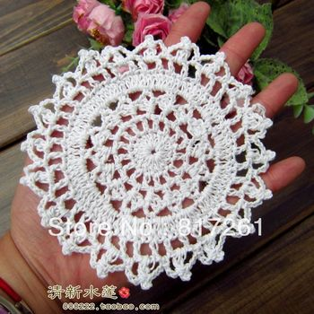 Freeshipping 30pic/lot 11cm round flowers lace doilies placemat IKEA coasters as kitchen accessories potholder for tea table pad