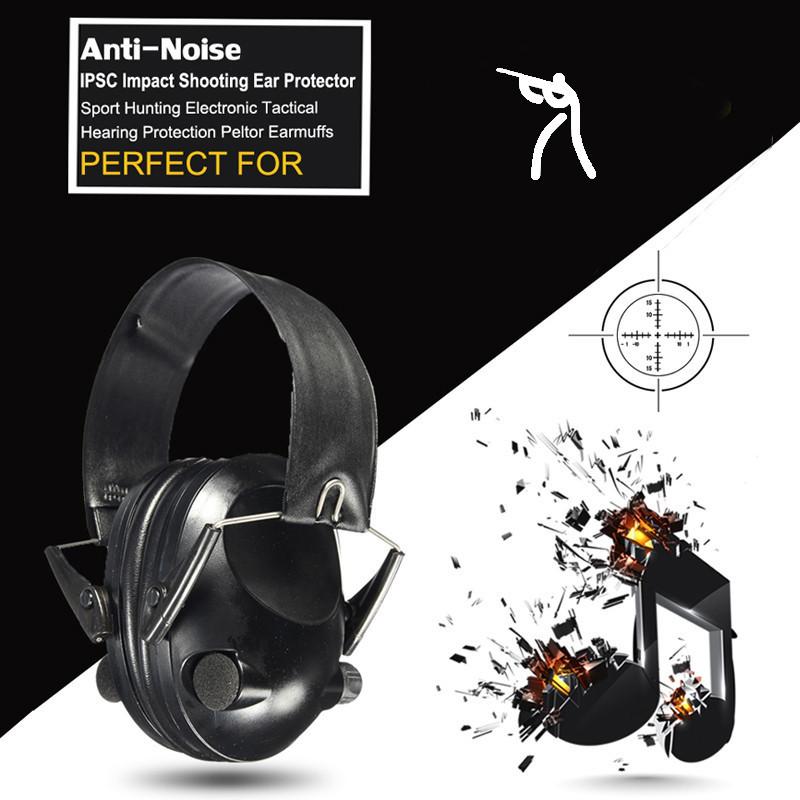 Hot Sale Anti-noise Impact Sport Hunting Electronic Tactical Earmuff Shooting Ear Protectors Hearing Protection Peltor Earmuffs