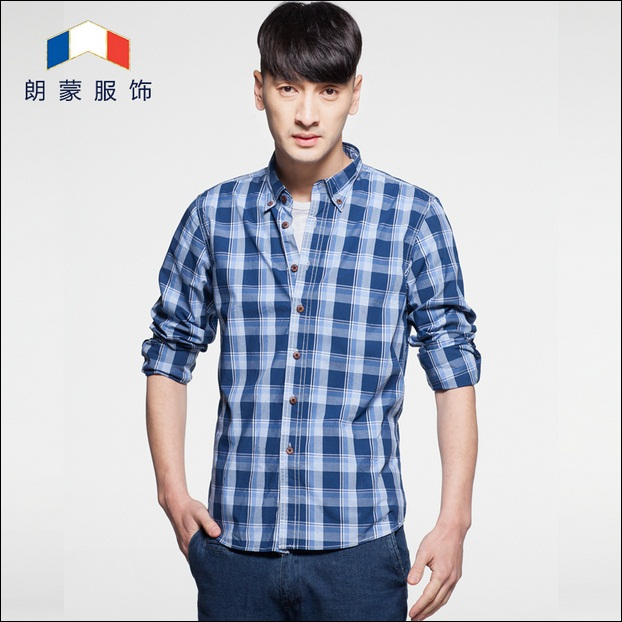 Hot selling high quality Brand fashion mens long sleeve plaid shirt casual dress shirts for spring autumn camisetas masculinasОдежда и ак�е��уары<br><br><br>Aliexpress