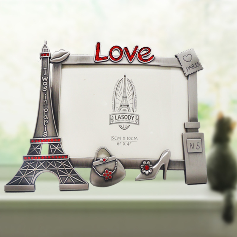 Fashion Lovely Eiffel Tower Photo frame Trendy DIY Picture frame Wedding Gift Creative Gifts Home decoration Accessories(China (Mainland))