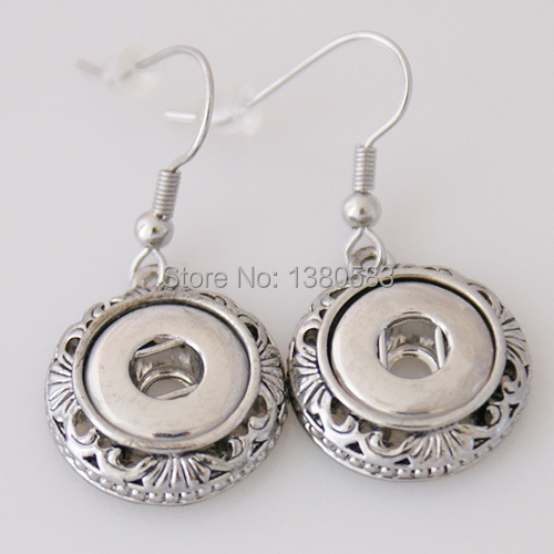 snaps metal Earring fit small size buttons OEM KB0891-S(China (Mainland))
