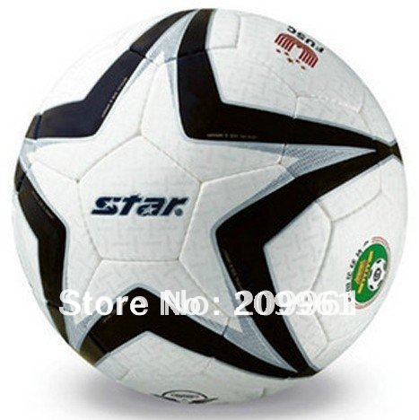 STAR Handmade football Soccer ball indoor outdoor use Standard 5# Gift: gas pin net bag(China (Mainland))