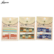 LEARNEVER Water Transfer nail sticker Nail Decals Stickers WOVEN TEXTILE PATTERN CHRISTMAS snowman Christmas DEER M02626(China (Mainland))