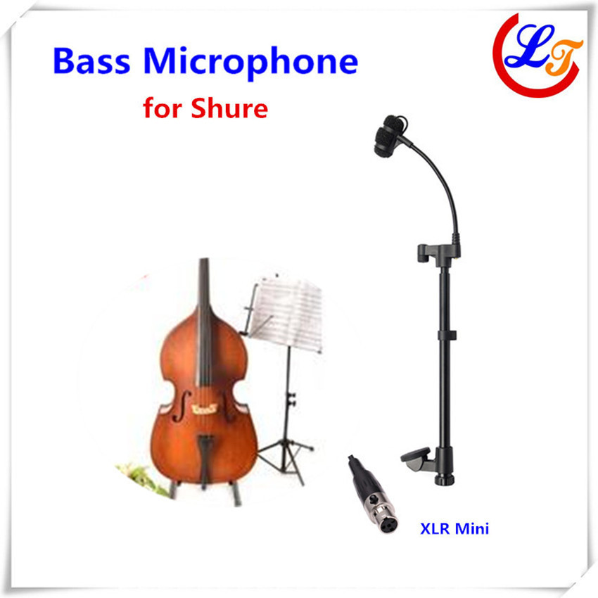 Professional Lapel Music Instrument Microfone Double Bass Microphone Lapeal for Shure Wireless System XLR Mini Microphones(China (Mainland))