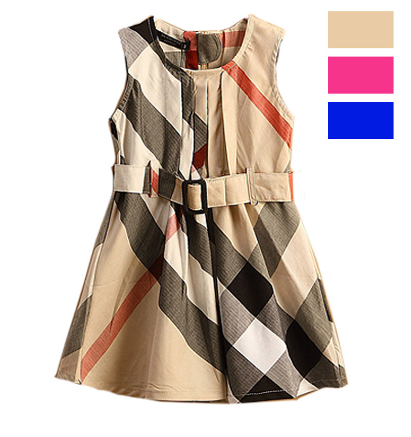 Aliexpress Designer Kids Clothes Online childrens dress plaid style
