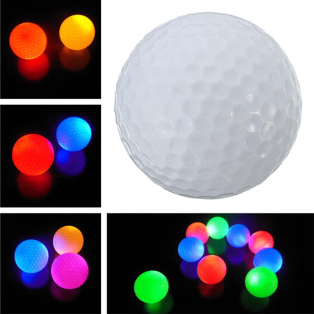 Light-up Flashing Glow in the Dark LED Electronic Golf Ball For Night Golfing novelty LED light(China (Mainland))