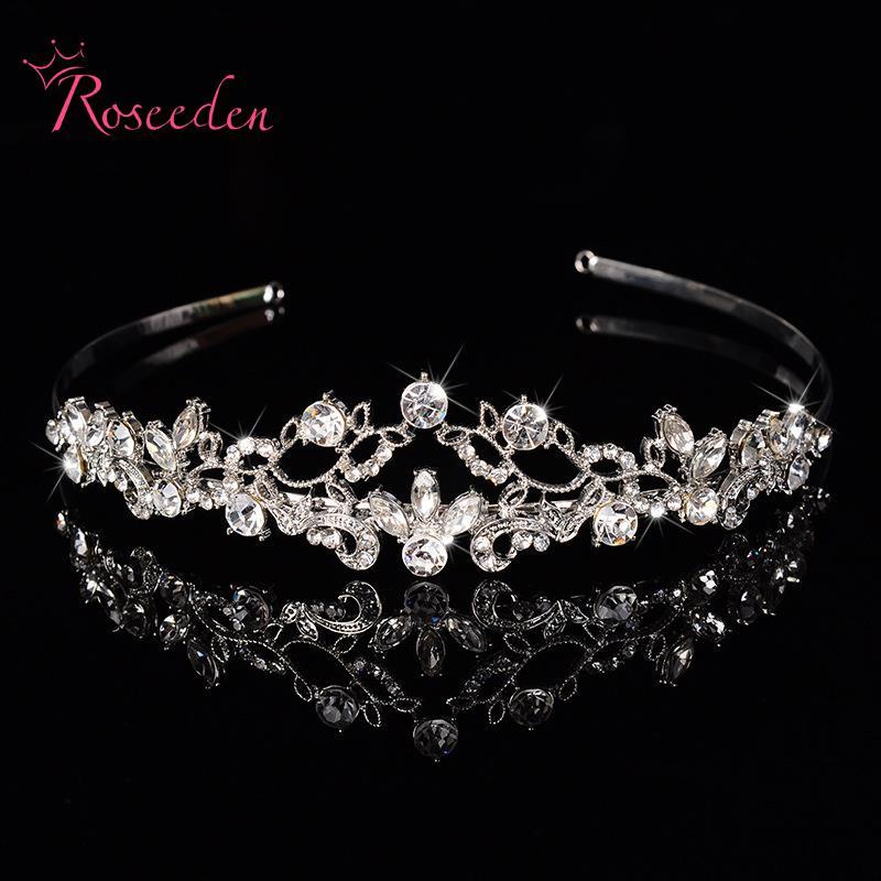 Hollow Crystal Headband Rhinestone Wedding Head Jewelry Vintage Bridal Hair Jewelry Pageant Crowns Headwear Headpieces RE116(China (Mainland))