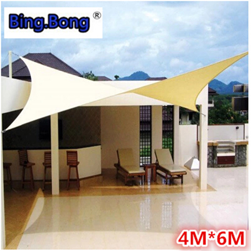 Outdoor sun shade sail shade cloth canvas awning canopy for Balcony awning