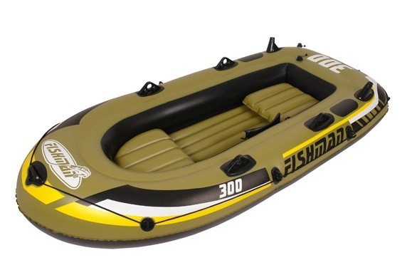 JILONG Fishman 300Set ,3Person fishing boat 252X125X40CM inflatable repair patch,1hand pump,1pr Oars,color box package - Beyond Sporting Gear Co., Ltd store
