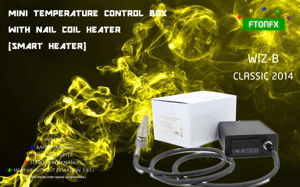 ถูก (คลาสสิก2014, WIZB,สีขาว) 120โวลต์150วัตต์,มินิกล่องควบคุมอุณหภูมิ,เล็บเครื่องทำขดลวด,ไทเทเนียมเล็บบุหรี่อิเล็กทรอนิกส์