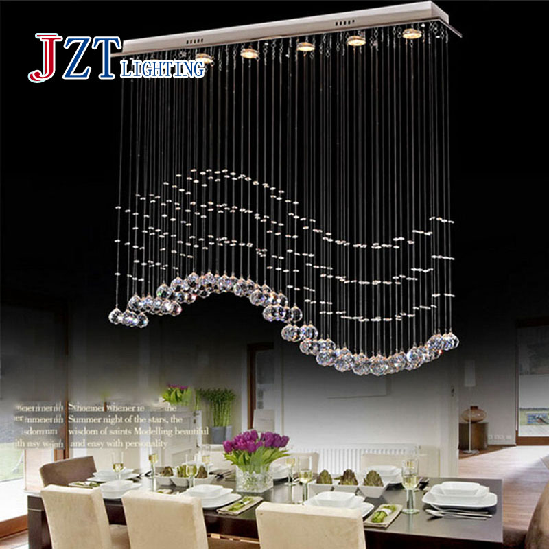Z Best price LED Restaurant droplight the bedroom lamps and lanterns GU10 shot cup k9 crystal Stainless steel L100xH100cm(China (Mainland))