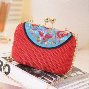 New Fashion Evening bag Womens Clutch Chain Cloth Designer Plaid quilted phone case Cross Body women Messenger Bags(China (Mainland))