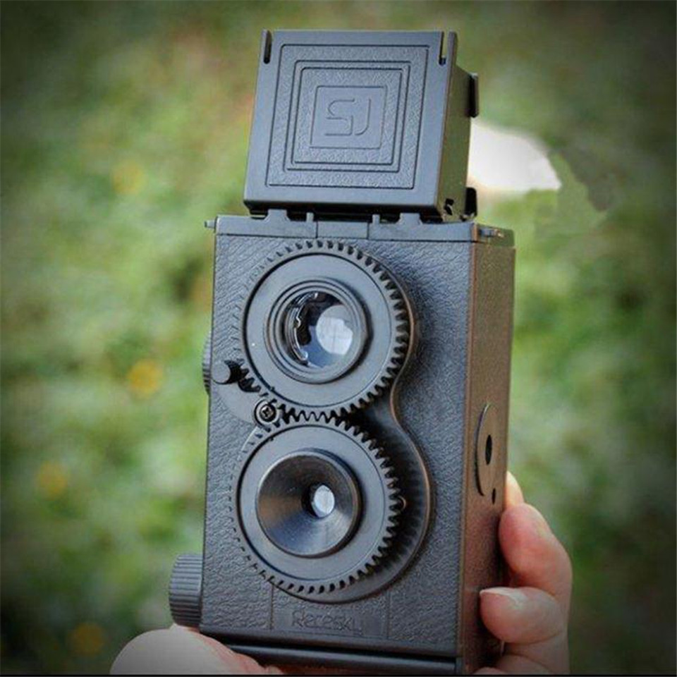 DIY Film Camera Kit Twin Lens Reflex TLR 35mm Classic Retro Lomo Film Camera Toy Gift for Children/ Students(China (Mainland))