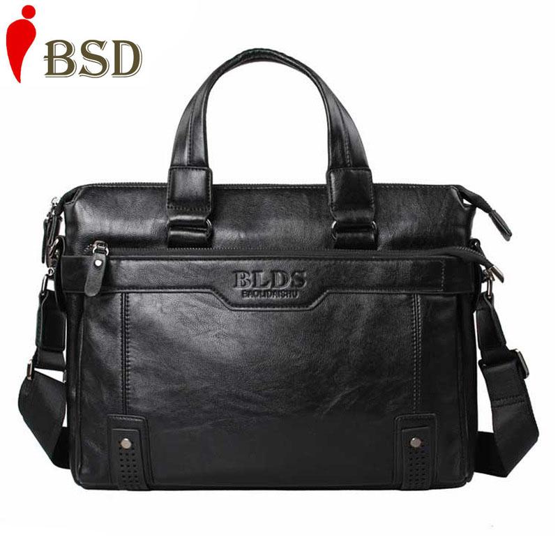 2016 Business men messenger bag fashion leather briefcases men designer laptop bag office bags for men famous brands vintage(China (Mainland))
