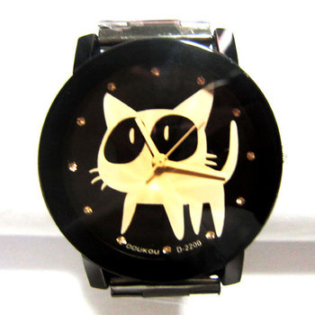 Hot sale NEW Hello Kitty Watch  Fashion Wrist Quartz  Promotional Item women and men lovers watches Free shipping