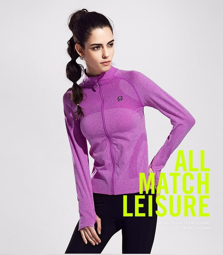 2016 Female Zip Sweatshirt Women Fashion Sports T-shirt Running Yoga Fitness Fast drying Girl Lady Fitness Clothing Workout (21)