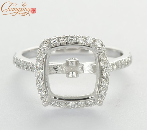 9.5mm Cushion Natural .40ct Diamond Solid 14k W/Gold Engagement Semi Mount Ring<br><br>Aliexpress