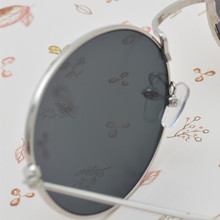 Unisex Women Men Mirror lens Round Glasses Steampunk Sunglasses Vintage Retro