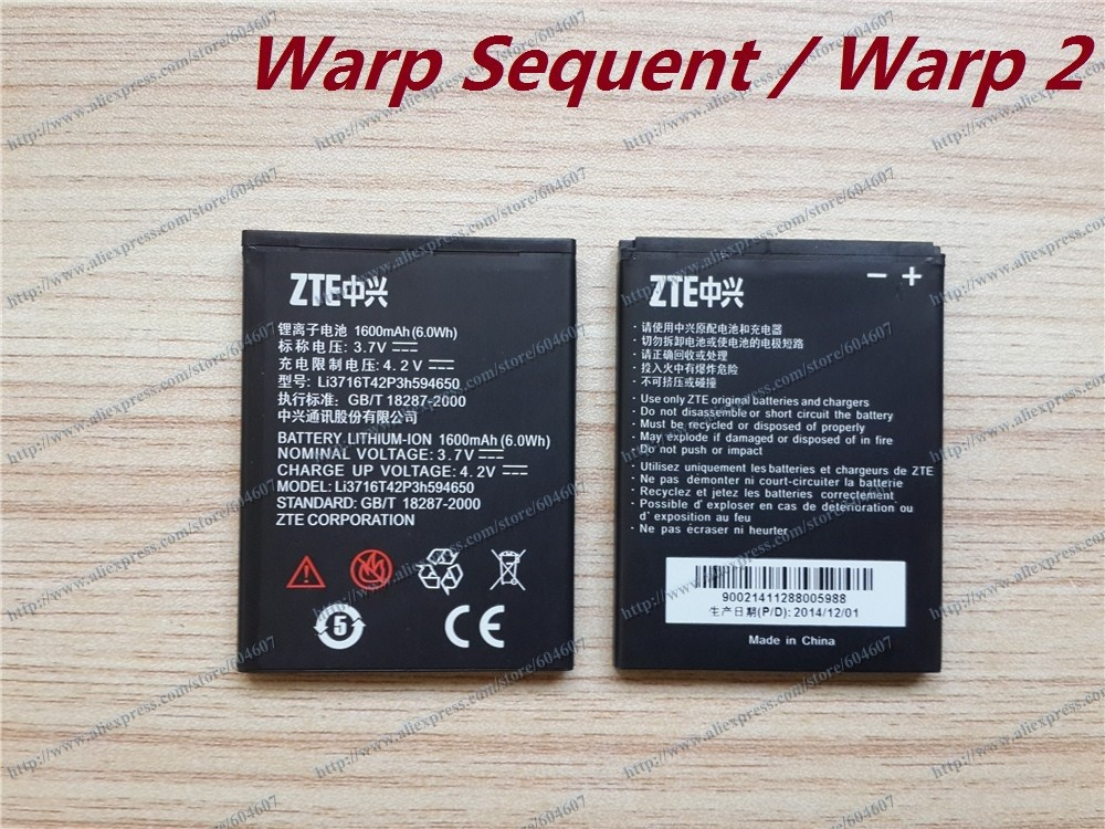 Lot 100pcs New Li3716T42P3h594650 Battery For ZTE N861 Warp Sequent / Warp 2 Boost Mobile(China (Mainland))