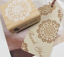 2pcs/5*5cm/square+round/wood creative lace rubber stamp/snowflake seal for scrapbooking diary wedding/vintage/retro/sp016(China (Mainland))