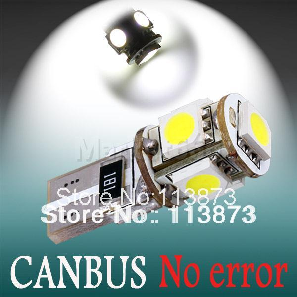 T10 5 SMD Pure White CANBUS Error Free Interior Car 194/501 W5W 5 LED Light Bulb Lamp parking car light source