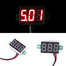 New Hot DC 0-30V Red LED Display Digital Voltage Voltmeter Panel Motor Motorcycle#55837
