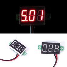 New Hot DC 0-30V Red LED Display Digital Voltage Voltmeter Panel Motor Motorcycle#55837