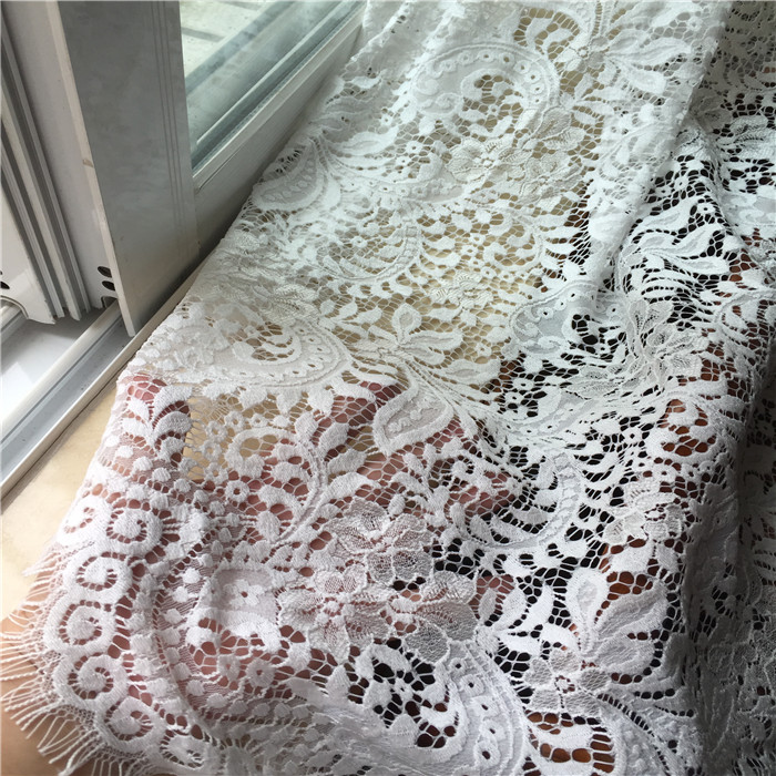 suppliers exported to Europe and the United States produced the original big black and white gray eyelash lace fabric(China (Mainland))