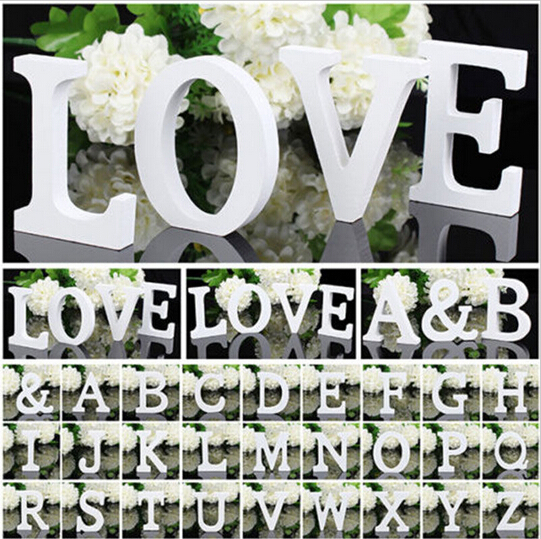 2015 Fashion English letters decoration Personalized Wooden Name Plaques Word Letters 3D Wall sticker Wedding Decor(China (Mainland))