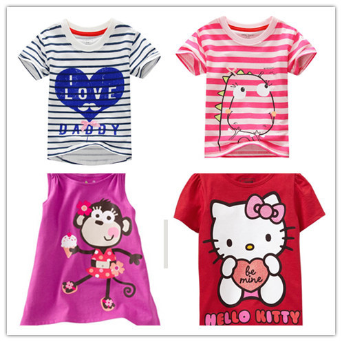 Brand 2015 New baby Kids Tshirt Child Clothing Childrens Tops Summer Clothes Short Sleeve Tee blouse shirts Cartoon baby clothes(China (Mainland))