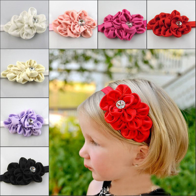 Baby Toddler Infant Flower Headband Hair Bow Band Accessories Gril Head Piece(China (Mainland))