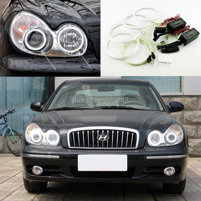 For Hyundai Sonata 2002 2003 2004 2005 Excellent Ultra bright headlight illumination CCFL Angel Eyes kit(China (Mainland))