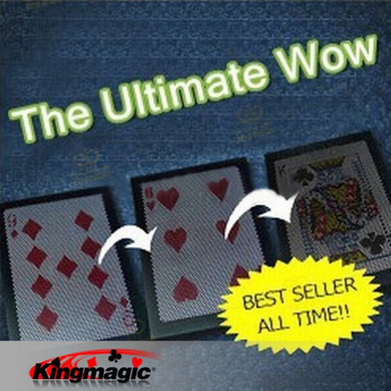 Best Selling The Ultimate WOW 3.0 Version Change Twice Ultimate Exchange Magic Tricks Magic Props Magia Magic Toys(China (Mainland))