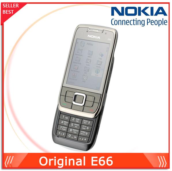 Original Phone Nokia E66 Unlocked GSM 3G cell phone WIFI GPS Bluetooth 3.15Mp Camera 2.4'' Touch Cheap Phones Free shipping(China (Mainland))