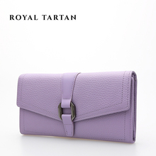 ROYAL TARTAN brand wallet luxury clutch bag women leather wallets genuine leather wallet designer purses fashion card holder