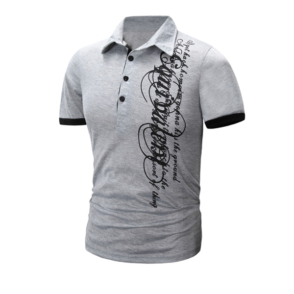 2015 Summer HOT Zanzea Brand Men New Polo Shirt Luxury Casual Slim Fit Short Sleeve Letter Printing Top Quality Design Tee Tops(China (Mainland))