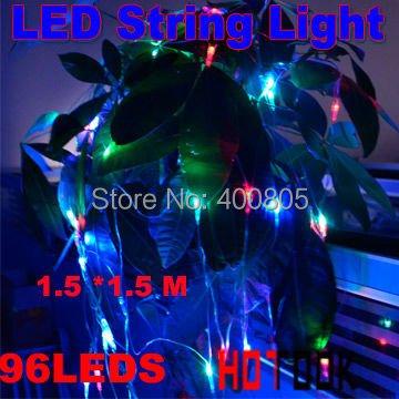 Dropship X-mas xmas Gift 96-LEDs LED Multicolor String Strip Light  for Party Wedding Disco CE RoHS x 2pcs  -- free ship<br><br>Aliexpress