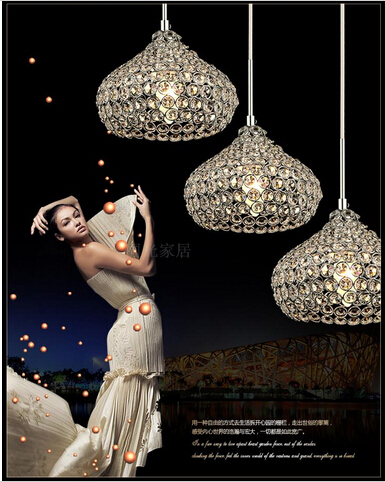 Led Iron Crystal 18cm Simple Modern Restaurant Pendant Lights For Dining Room Modern Pendentes E Lustres Pendant Lamp<br><br>Aliexpress
