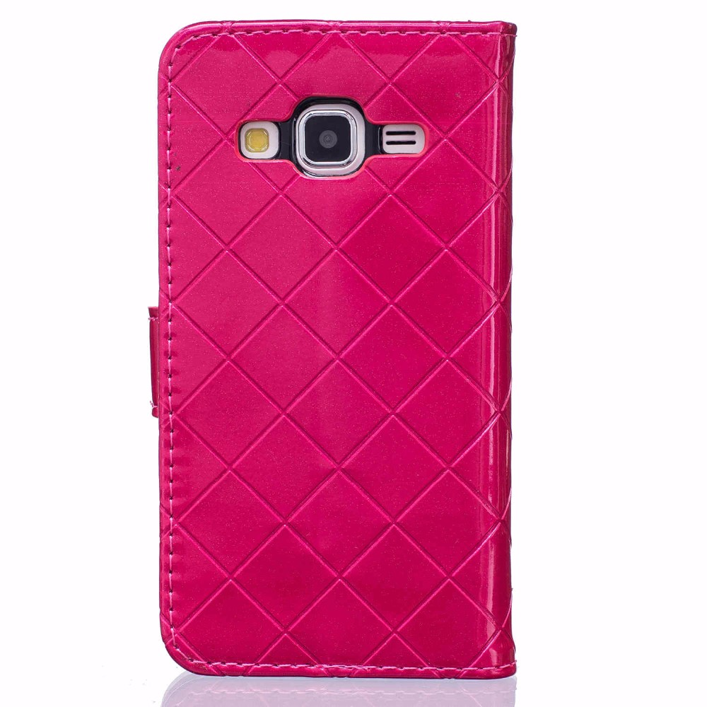 metal button leather phone back cover cfor Samsung Galaxy Core Prime G360 G360H G3606 G3608 G3609 case