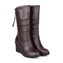 Gran tamaño 34 ~ 50 Nuevo estilo botas de nieve plataforma de los tacones botas Martin zapatos de invierno cálido mujeres chaussure mujer femininas botas mujer(China (Mainland))