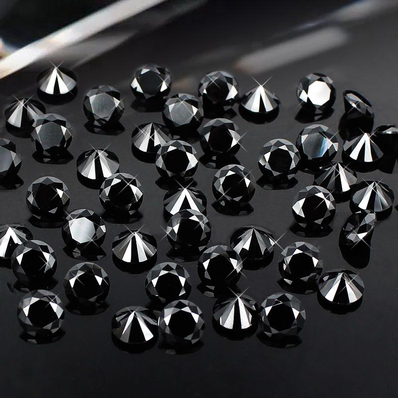 4-18mm Black Color Brilliant Cubic Zirconia Stones nail art rhinestones Round Shape Cubic Zirconia Beads DIY Jewelry Findings<br><br>Aliexpress