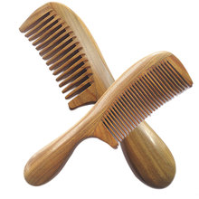 Hot Sale Handicraft Wooden Round Handle Sandal Hair Combs Natural Sandalwood Fine Comb Anti-Static Care(China (Mainland))