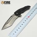 BMT Medford CampingTactical Folding knife 440C Steel Blade Black G10 Handle Utility hunting knife Survival EDC