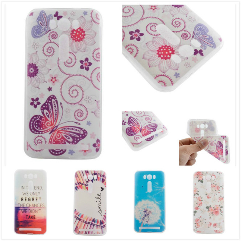 Colourful Phone Cases For Asus Zenfone 2 Laser ZE500KL 5.0 Capa Para Funda TPU Back Cover Soft Plastic Mobile Phone Case Shell(China (Mainland))