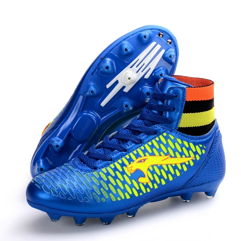 Authentic Men Soccer Boots Boys Indoor Shoes TF Spike Artificial Turf Match Training Big Size 34-44 #B2247