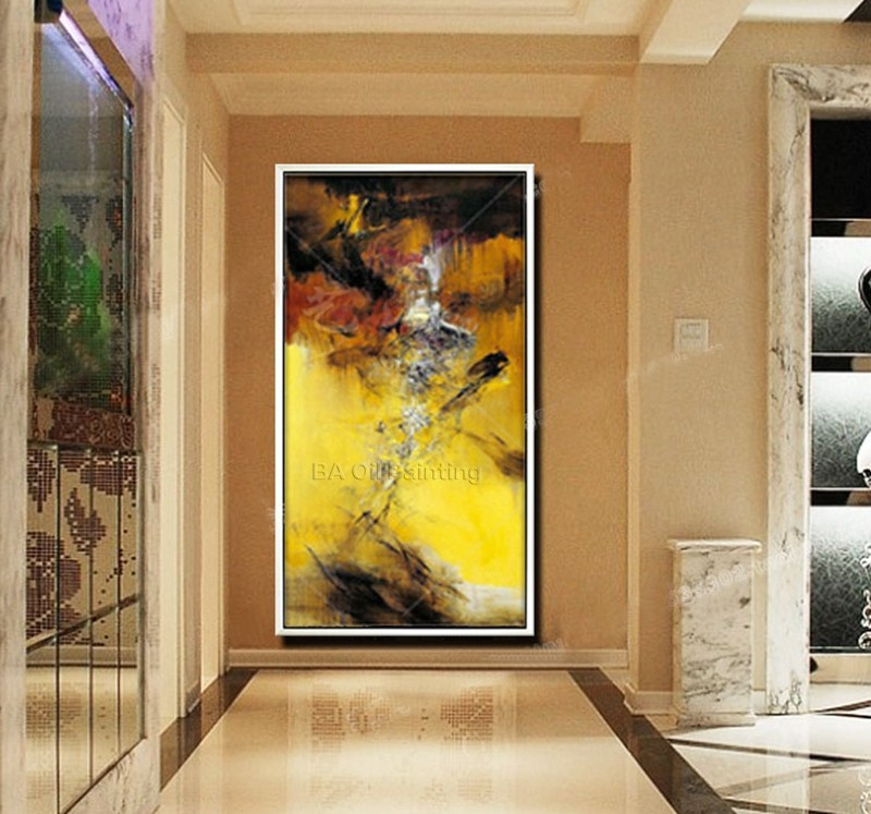 Modern Wall Art Decor Works Handmade High Quality Abstract Picture Oil Painting On Canvas For Wall Decor Artworks Abstract Art(China (Mainland))
